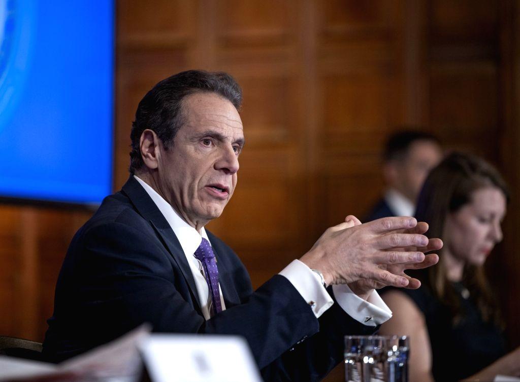New York Governor Andrew Cuomo (Photo: Governor's webcast/IANS)