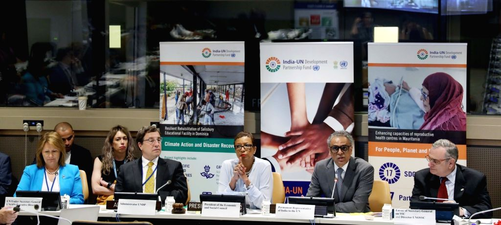 New York: India's Ambassador to the United Nations Syed Akbaruddin addresses during an event organised by the Permanent Mission of India to the UN together with the UN Office for South-South ...