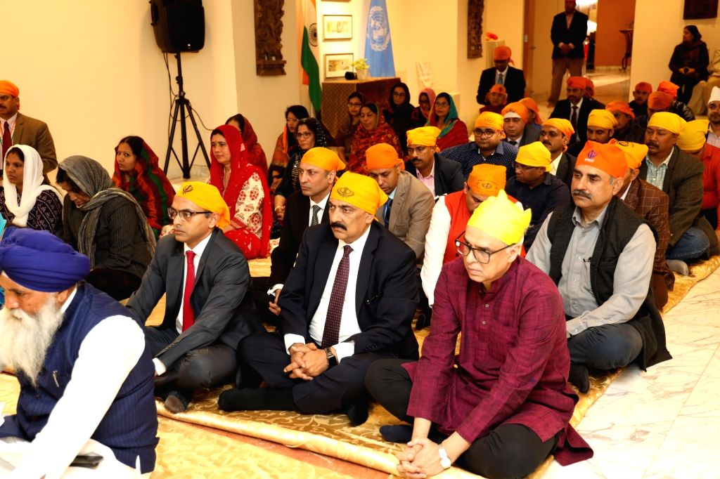 New York: India's permanent representative to the United Nations Syed Akbaruddin participates in the 550th birth anniversary celebrations of Guru Nanak Dev in New York, US on Nov 12, 2019. - Nanak Dev