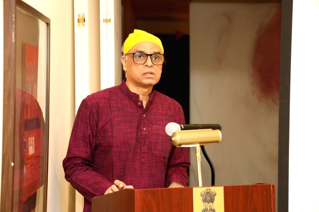 New York: India's permanent representative to the United Nations Syed Akbaruddin addresses during the 550th birth anniversary celebrations of Guru Nanak Dev in New York, US on Nov 12, 2019. - Nanak Dev