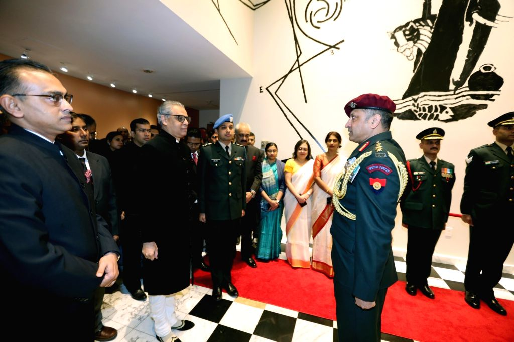 New York: India's Permanent Representative to the United Nations Syed Akbaruddin unfurls the tricolor on the occasion of India's 71st Republic Day, at the UN Headquarters in New York on Jan 26, 2020.