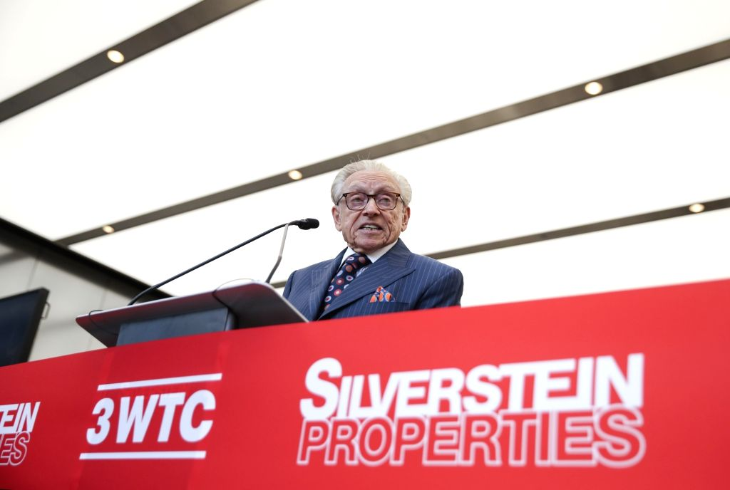 NEW YORK, June 11, 2018 - Larry A. Silverstein, Chairman of Silverstein Properties, developer of 3 World Trade Center, delivers a speech at the opening ceremony of 3 World Trade Center in lower ...