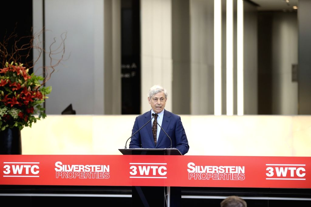 NEW YORK, June 11, 2018 - Port Authority Executive Director Rick Cotton delivers a speech at the opening ceremony of 3 World Trade Center in lower Manhattan, New York, the United States, on June 11, ...