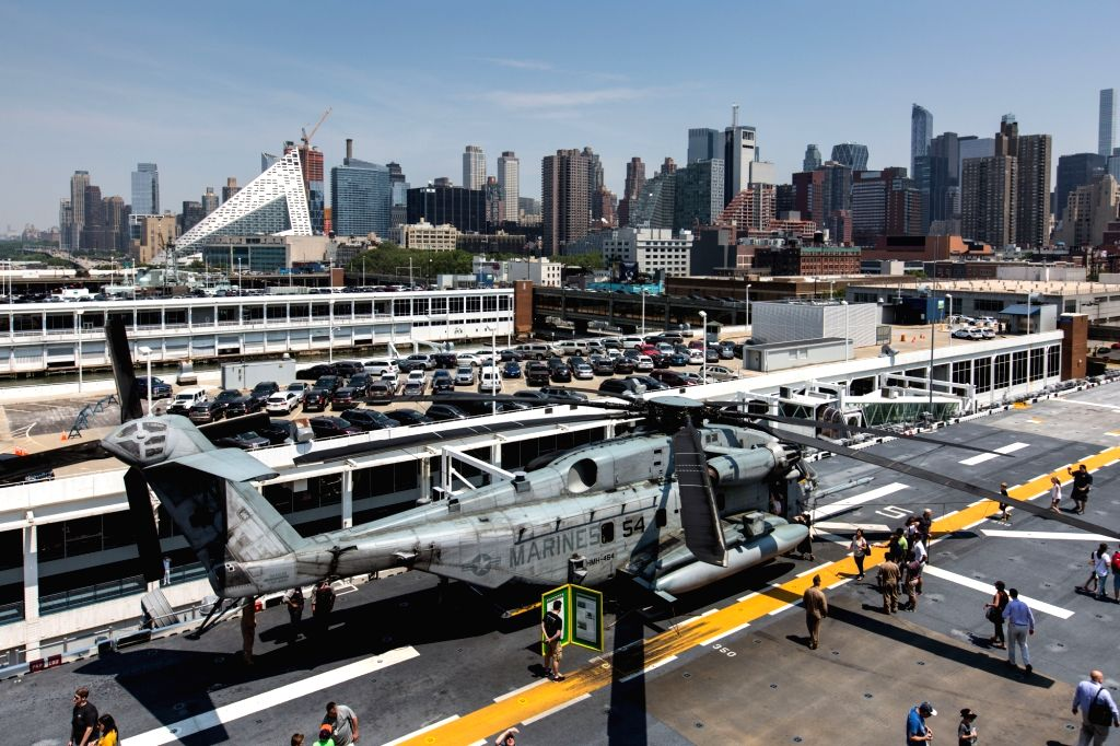 NEW YORK, May 27, 2016 - A Sikorsky CH-53E Super Stallion helicopter is pictured on board the USS Bataan (LHD-5), Wasp-class amphibious assault ship, docked along Pier 88 during the 28th Annual New ...
