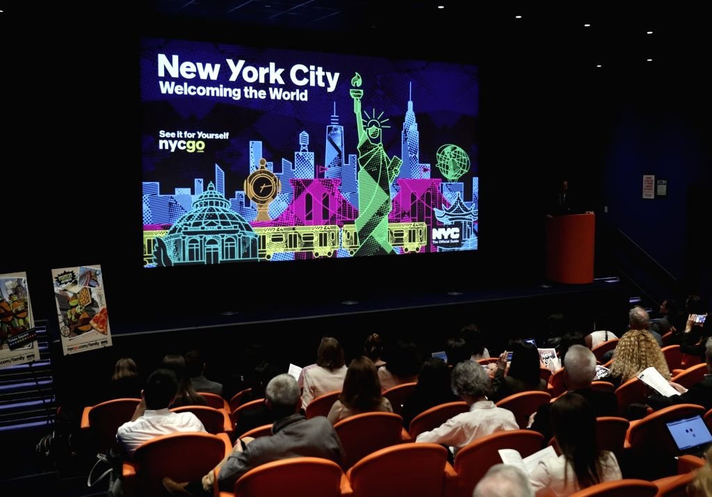 NEW YORK, May 31, 2017 - Photo taken on May 31, 2017 shows the press conference held by Fred Dixon, president and CEO of NYC & Company, in Manhattan, New York, the United States. China is one of ...