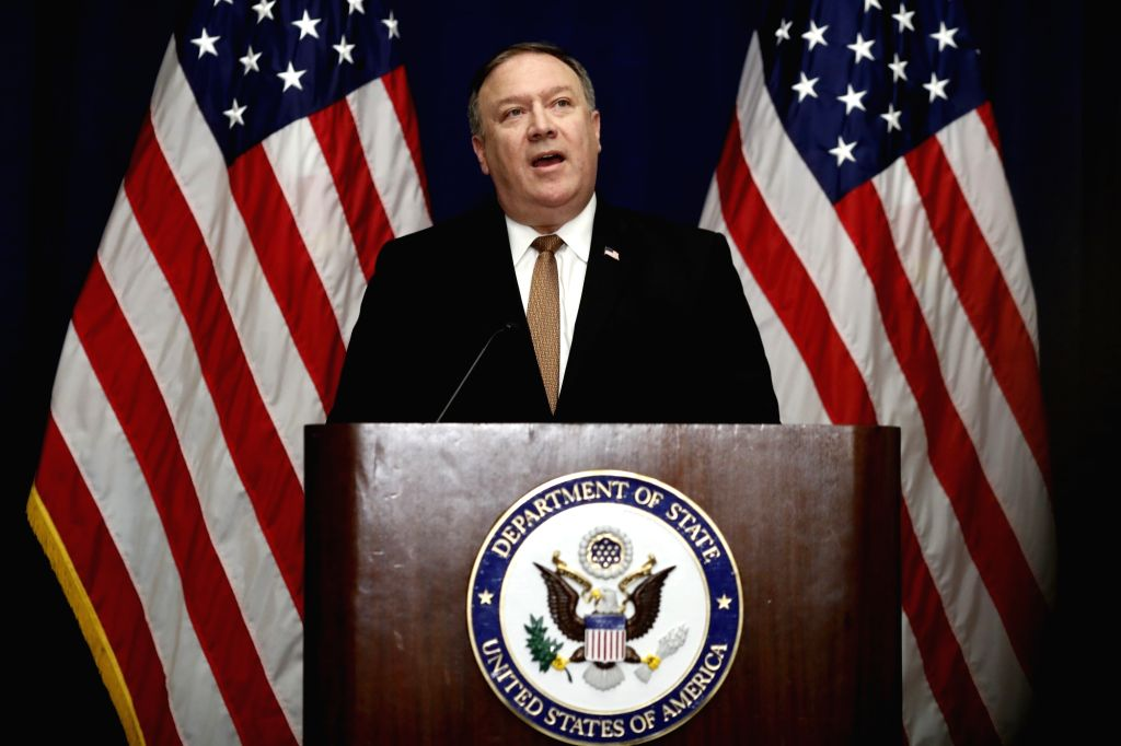 NEW YORK, May 31, 2018 - U.S. Secretary of State Mike Pompeo speaks at a press briefing after wrapping up his two-day meeting with a visiting DPRK delegation, led by Kim Yong Chol, vice chairman of ...