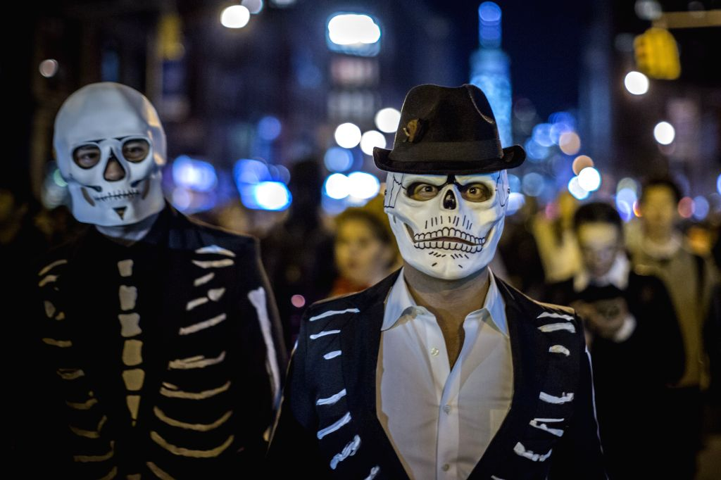 NEW YORK, Nov. 1, 2016 - People participate in the annual Halloween parade in Manhattan, New York City, the United States, Oct. 31, 2016.