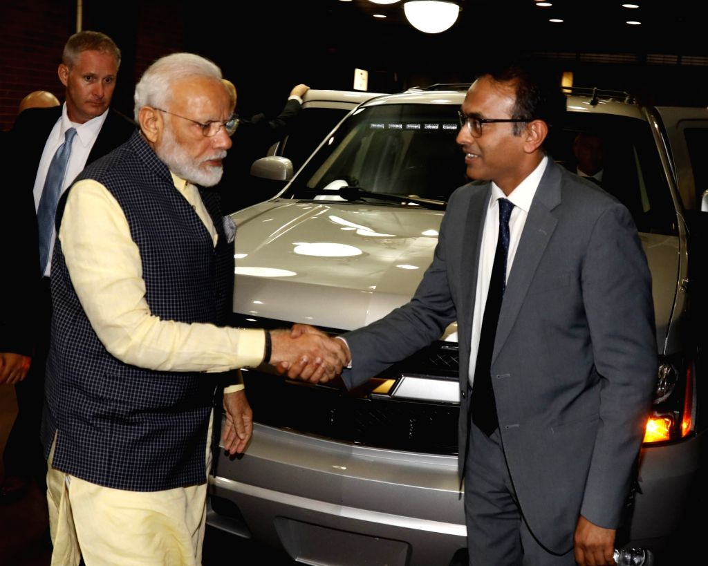 New York: Prime Minister Narendra Modi being welcomed on his arrival at the Lotte New York Palace in New York, USA on Sep 22, 2019. - Narendra Modi