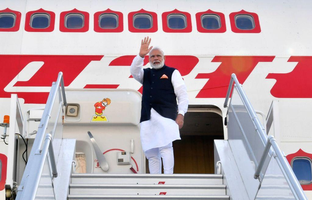 New York: Prime Minister Narendra Modi emplanes for India from New York on Sep 27, 2019. - Narendra Modi