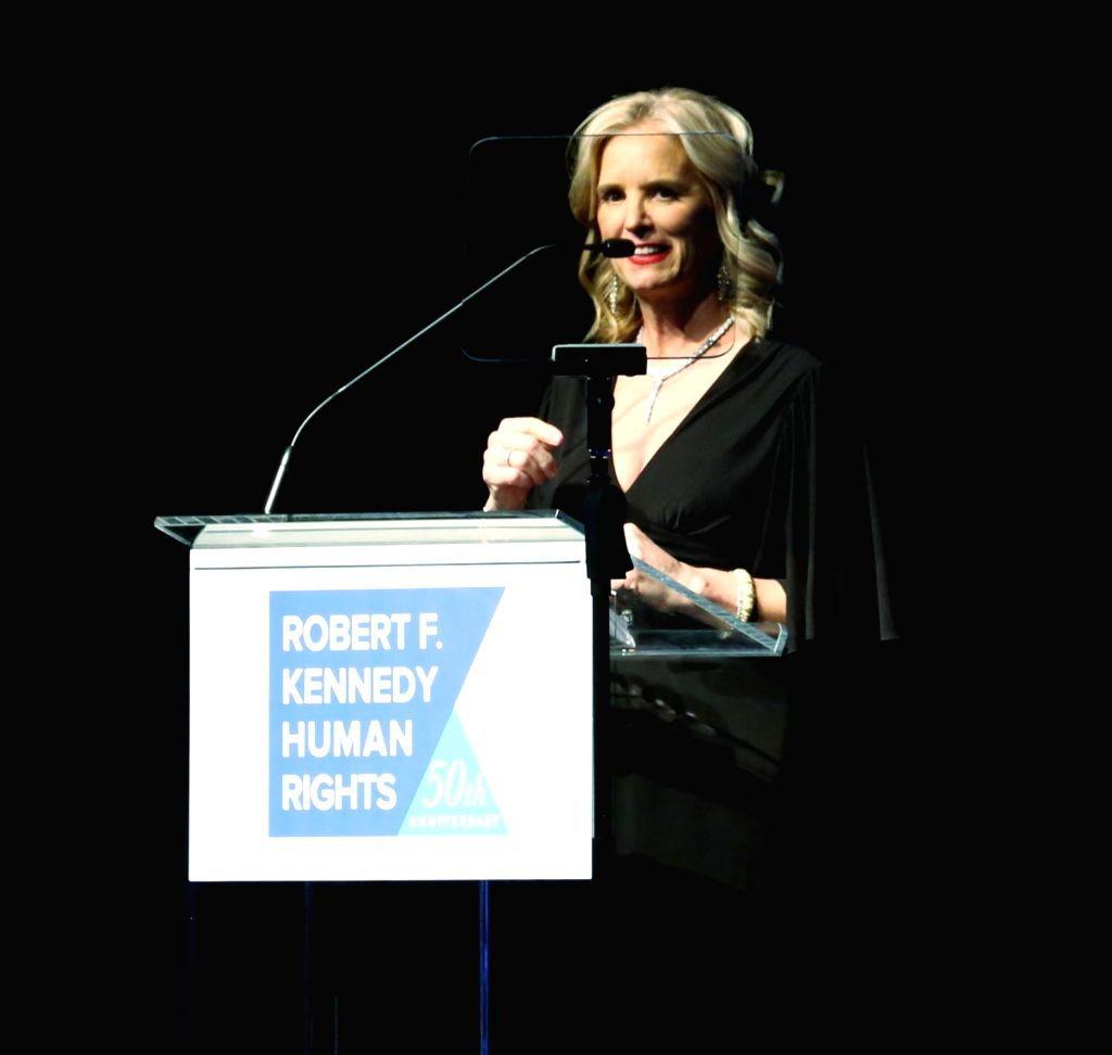 New York: Robert F. Kennedy Human Rights President Kerry Kennedy addresses at Robert F. Kennedy Human Rights' Ripple of Hope Awards, in Manhattan, New York, on Dec 12, 2018.