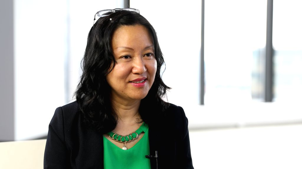 NEW YORK, Sept. 11, 2019 - Rose Lu, New York general manager of Atlanta-based developer and sales company McKinley Homes, is interviewed by Xinhua in New York, the United States, on Sept. 5, 2019. ...