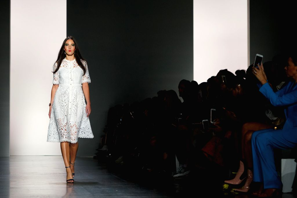 NEW YORK, Sept. 12, 2018 - A model presents a creation of Dan Liu Spring/Summer 2019 collection during the New York Fashion Week in New York, the United States, Sept. 11, 2018.