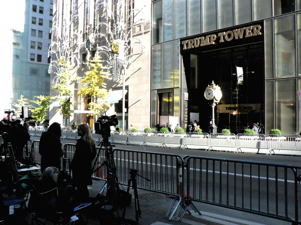 New York: Trump Tower in mid-town Manhattan in New York City. President-elect Donald Trump has been working on shaping his administration by meeting various people there. Democrat Tulsi Gabbard, the ...