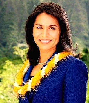 New York: Tulsi Gabbard, a Democrat who is the first Hindu elected to United States Congress, met with Republican President-elect Donald Trump, Nov. 21, 2016, to discuss the fight against terrorism, ...
