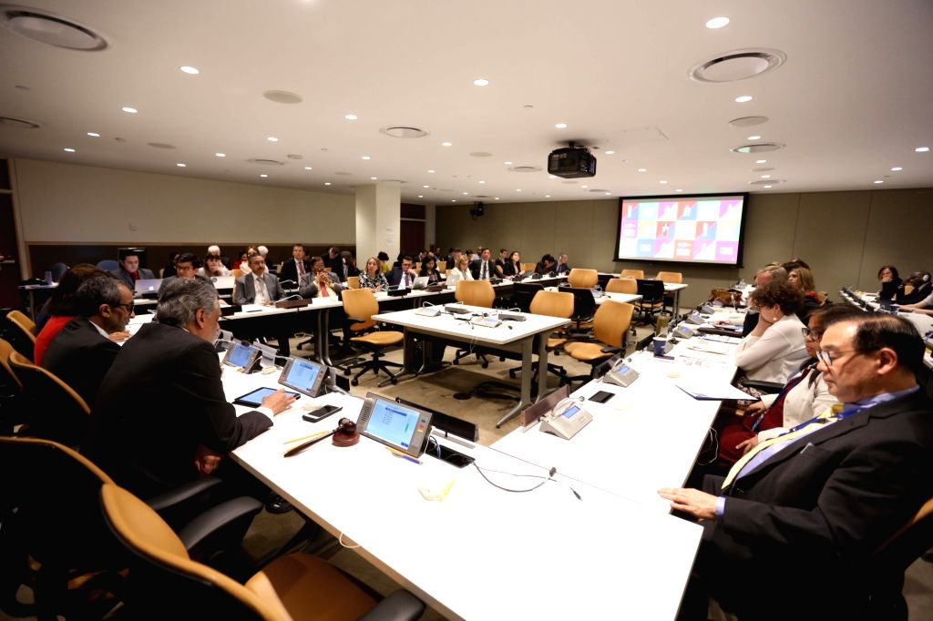 New York: United Nations (UN) Ambassador Syed Akbaruddin addresses at UN Conference on Environment, in New York on June 5, 2018.