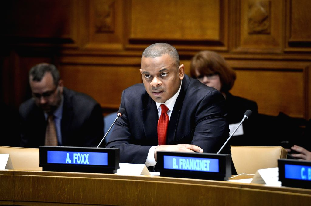 New York: US Secretary of Transportation Anthony Foxx speaks during a panel discussion marking the launch of Together for Safer Roads, a private sector initiative aimed at reducing road traffic ...