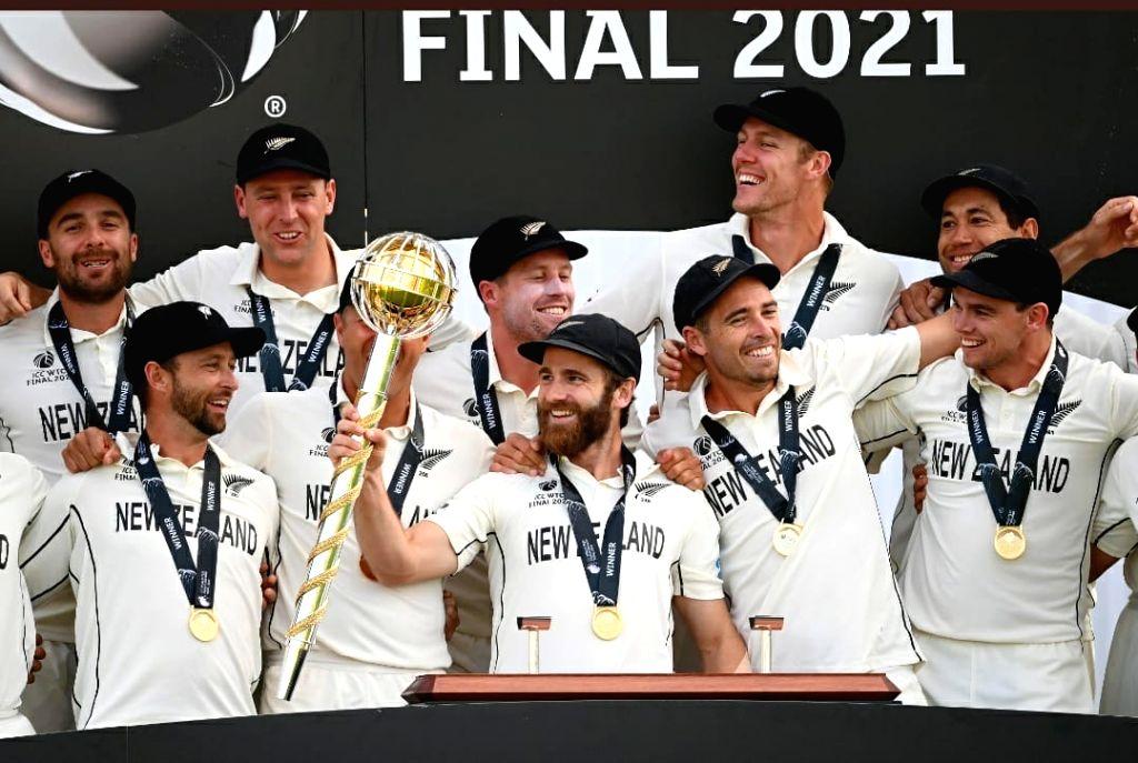 New Zealand beat India, lift World Test Championship (Ld).