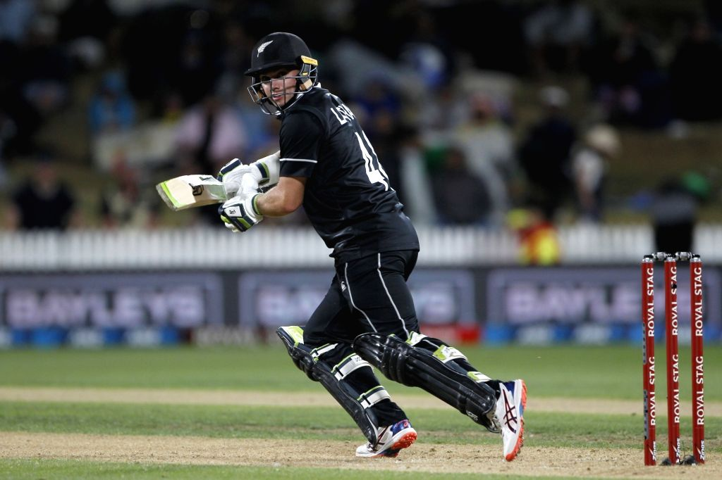 New Zealand captain Tom Lotham in action during the 1st ODI of the three-match series between India and New Zealand at the Seddon Park in Hamilton, New Zealand on Feb 5, 2020. - Tom Lotham