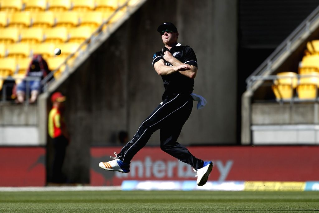 New Zealand player James Neesham during the fifth ODI between India and New Zealand at Westpac Stadium, Wellington on Feb. 3, 2019.