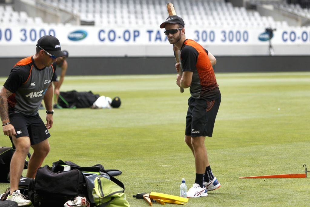 New Zealand player Kane Williamson during a practice session ahead of the 2nd ODI against New Zealand at Auckland in New Zealand on Feb 7, 2020.