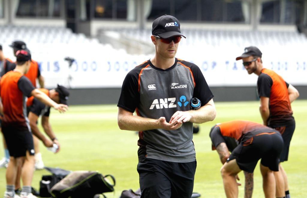 New Zealand players during a practice session ahead of the 2nd ODI against New Zealand at Auckland in New Zealand on Feb 7, 2020.