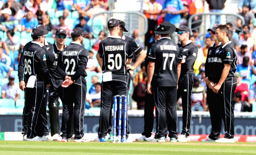 New Zealand players during the first warm-up match between India and New Zealand at the Kennington Oval,  London on May 25, 2019.