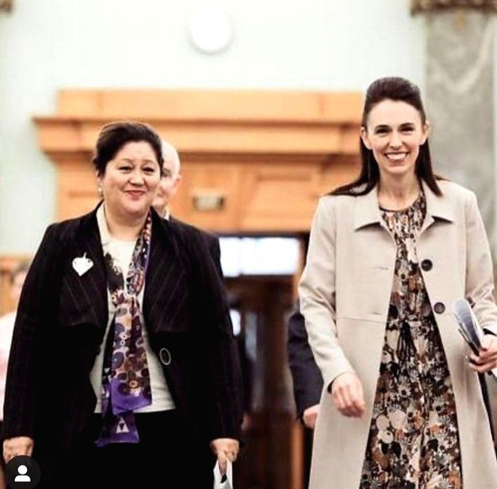 New Zealand Prime Minister Jacinda Ardern with new Governor-General Cindy Kiro.(photo:Instagram) - Jacinda Ardern