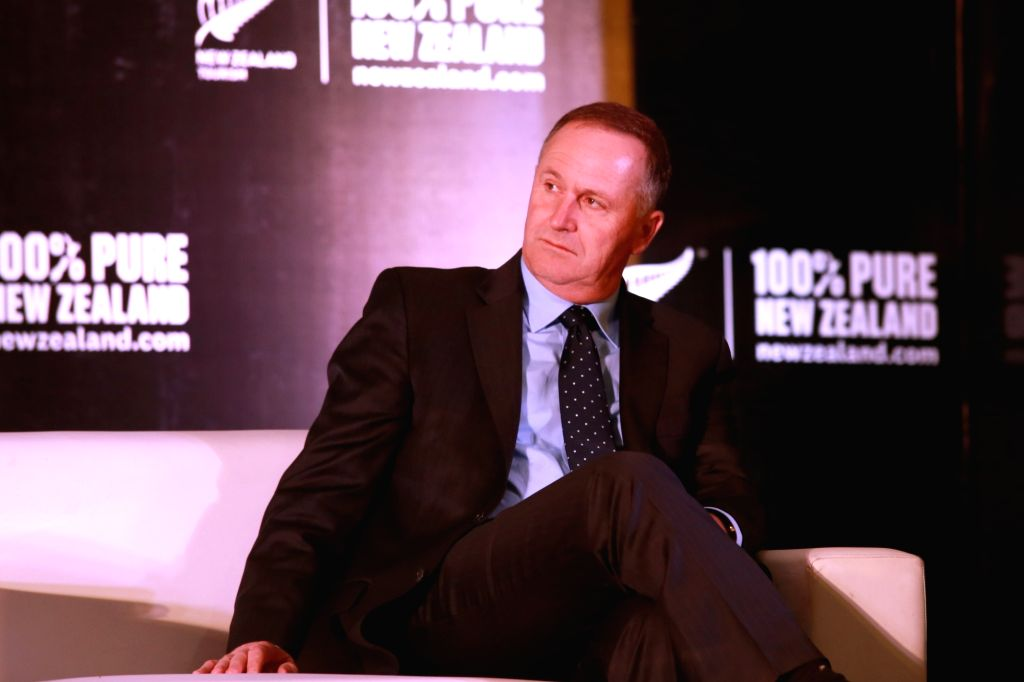 New Zealand Prime Minister John Key during a press conference in New Delhi on Oct 27,2016. - John Key