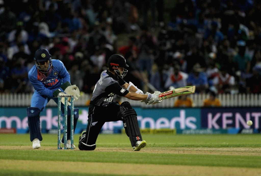 New Zealand's Kane Williamson in action during the third T20I match between India and New Zealand at Seddon Park in Hamilton, New Zealand on Feb 10, 2019.