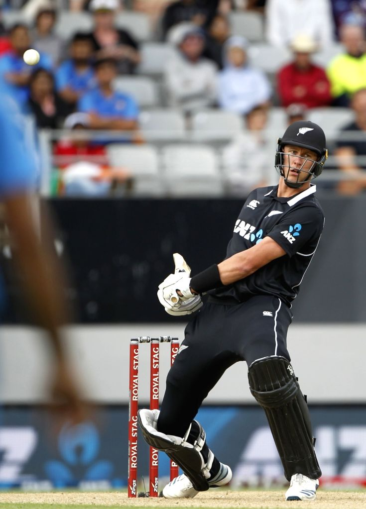 New Zealand's Kyle Jamieson in action during the the second ODI of the three-match series between India and New Zealand at the Eden Park in Auckland, New Zealand on Feb 8, 2020.