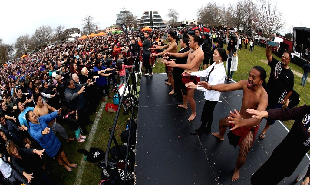 "New Zealander: Around 7700 haka performers were present at Rotorua village green of New Zealand in an attempt to break the Guinness World Record for largest ""haka - a Maori ceremonial war dance ..."