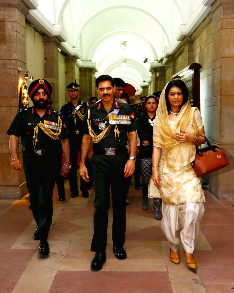Newly appointed Chief of Army Staff General Dalbir Singh Suhag assumes office in New Delhi on August 1, 2014.