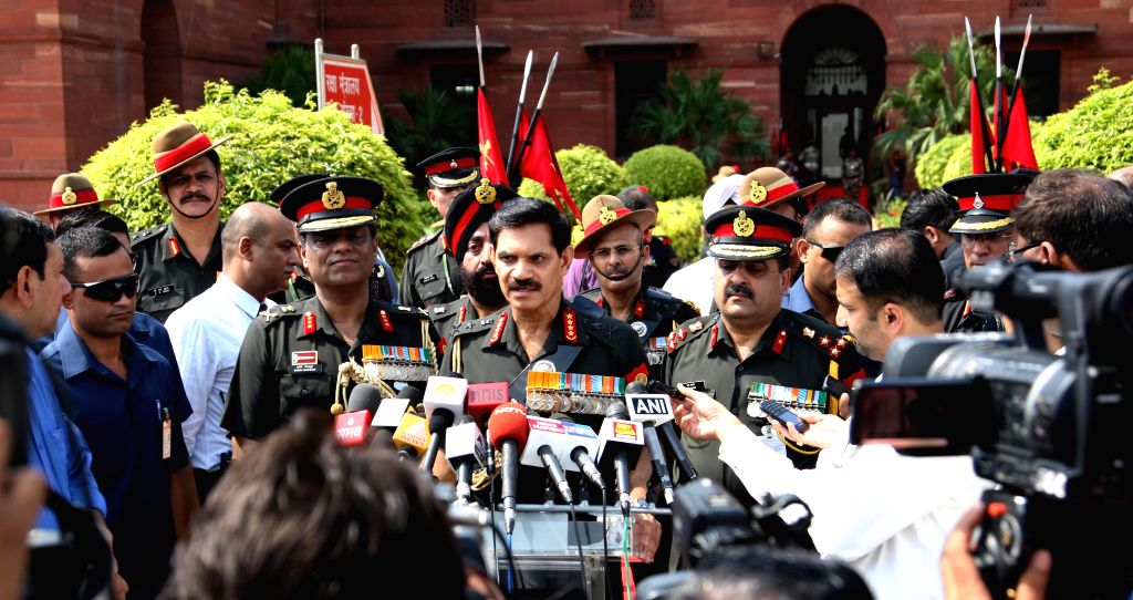 Newly appointed Chief of Army Staff General Dalbir Singh Suhag interacts with press after assuming charge in New Delhi on August 1, 2014.