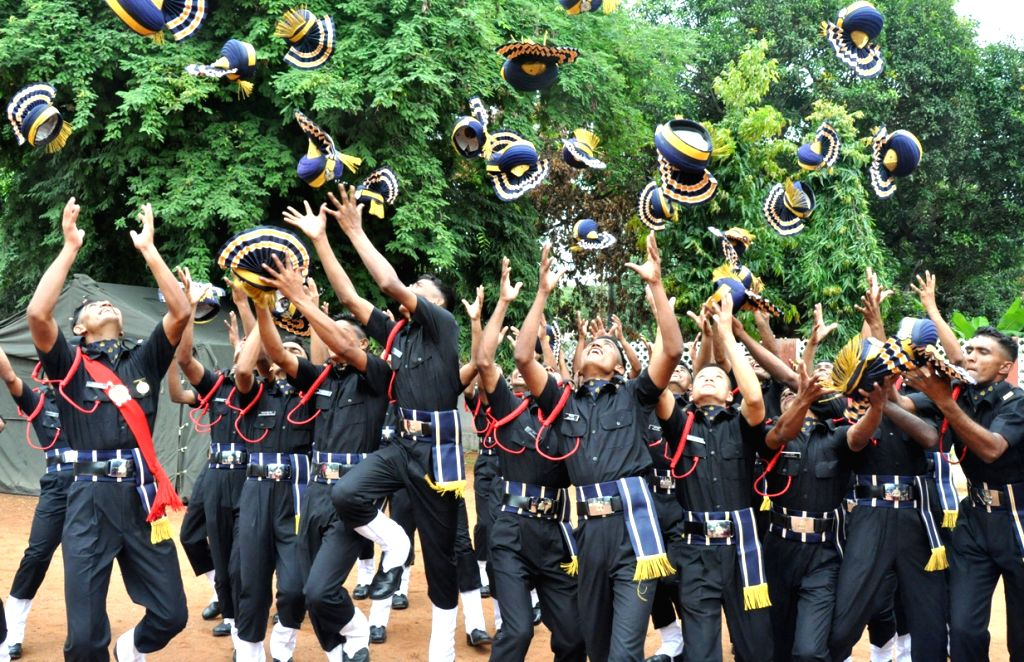 Newly commissioned officers in a jubilant mood after a Passing out parade at the ASC Centre and College in Bengaluru on June 10, 2017.