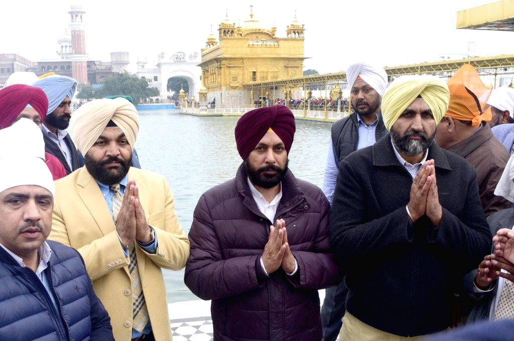 Newly-elected Amritsar mayor Karamjit Singh Rintu during his visit to the Golden temple in Amritsar on Jan 23, 2018. - Karamjit Singh Rintu