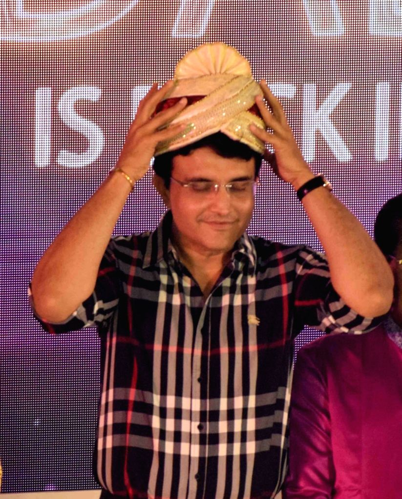 Newly-elected BCCI president Sourav Ganguly during a felicitation programme organised by Cricket Association of Bengal (CAB) in Kolkata on Oct 25, 2019. - Sourav Ganguly