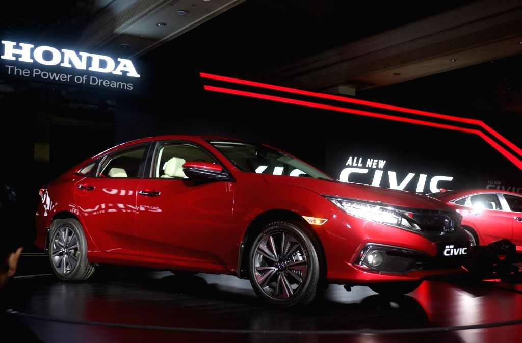 """Newly launched 2019 Honda new """"Civic"""" in New Delhi, on March 7, 2019."""
