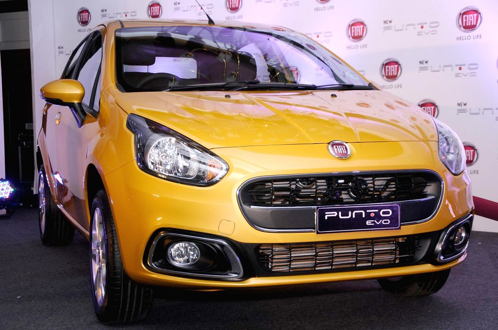 Newly launched Punto Evo on display during a press conference in  Bangalore on Aug 8, 2014.