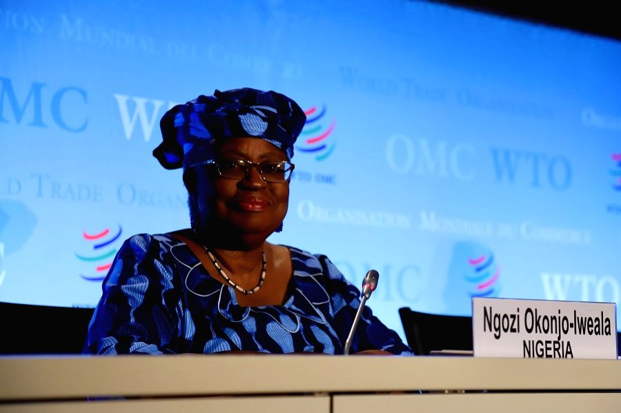 Ngozi Okonjo-Iweala of Nigeria, a candidate for the new head of the World Trade Organization (WTO), attends a press conference at the WTO headquarters in Geneva, Switzerland, July 15, 2020.