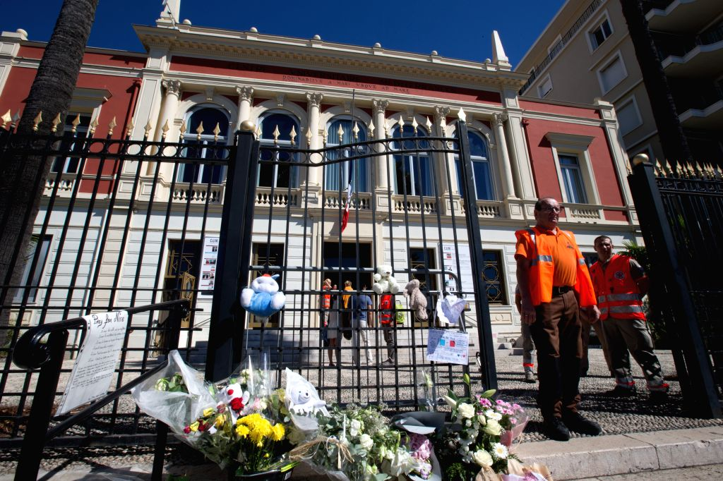 NICE, July 16, 2016 - Red Cross members wait to offer psychological guidance to survivors of the terrorist attack in Nice, France, July 16, 2016. The Islamic State (IS)-linked news agency Amaq ...