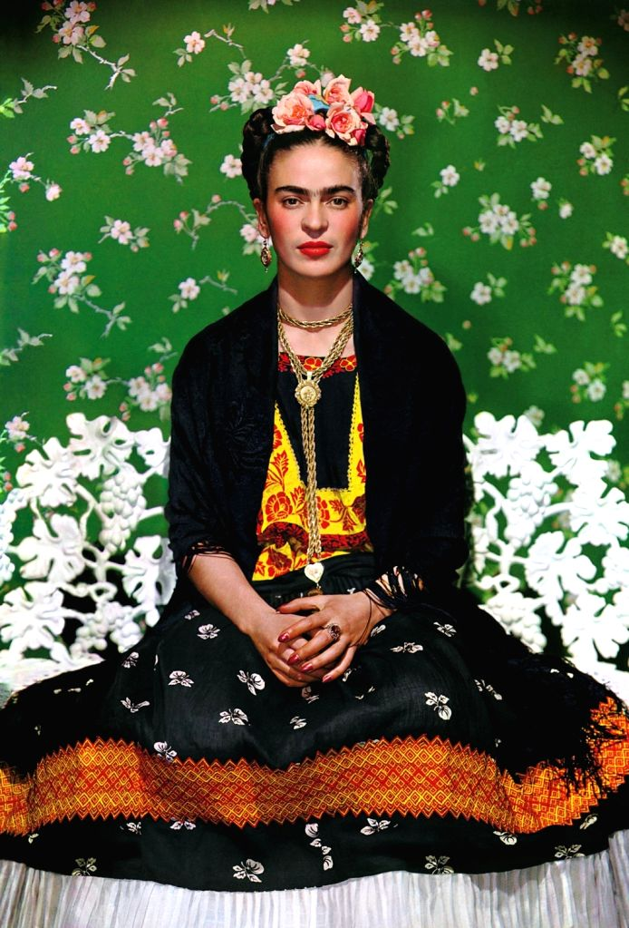 Nickolas Muray (American, born Hungary, 1892-1965). Frida on Bench, 1939. Carbon print. Courtesy of Nickolas Muray Photo Archives. Copyright: Nickolas Muray Photo Archives. (Source: www.brooklynmuseum .org)