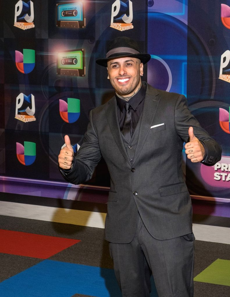 Nicky Jam poses in the red carpet of the Premios Juventud 2015 Awards in Coral Gables, Florida, US, 16 July 2015.