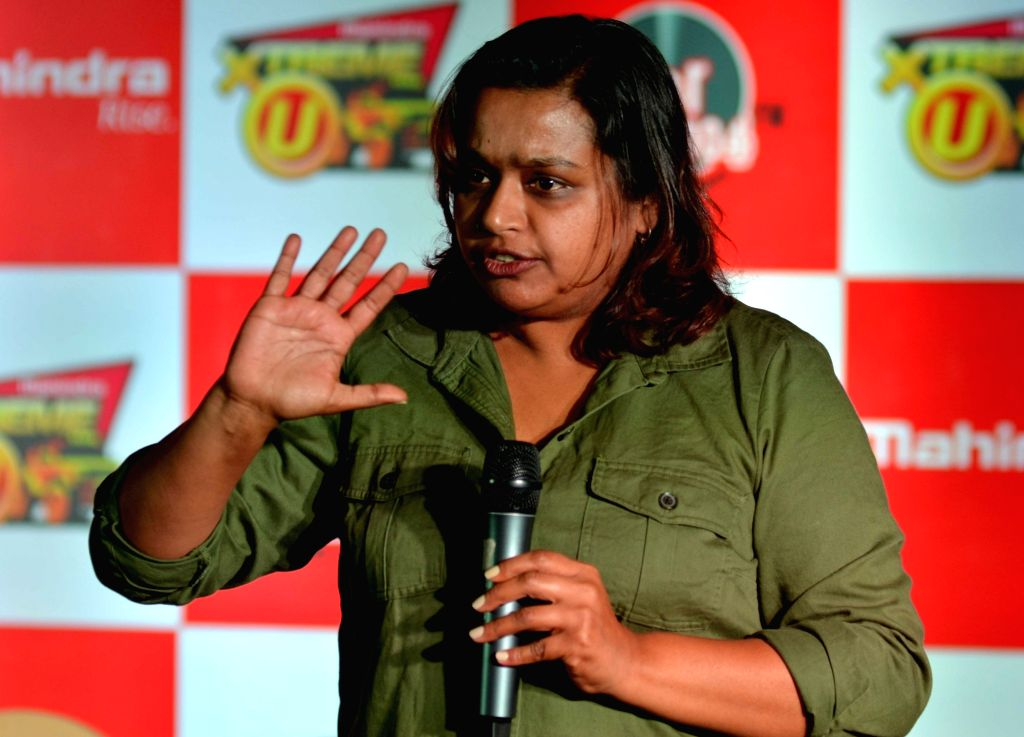 """Nidhi Tiwari, founder of Women Beyond Boundaries (WBB) during a programme to announce the second season of """"Xtreme U"""" in Kolkata, on March 8, 2019."""