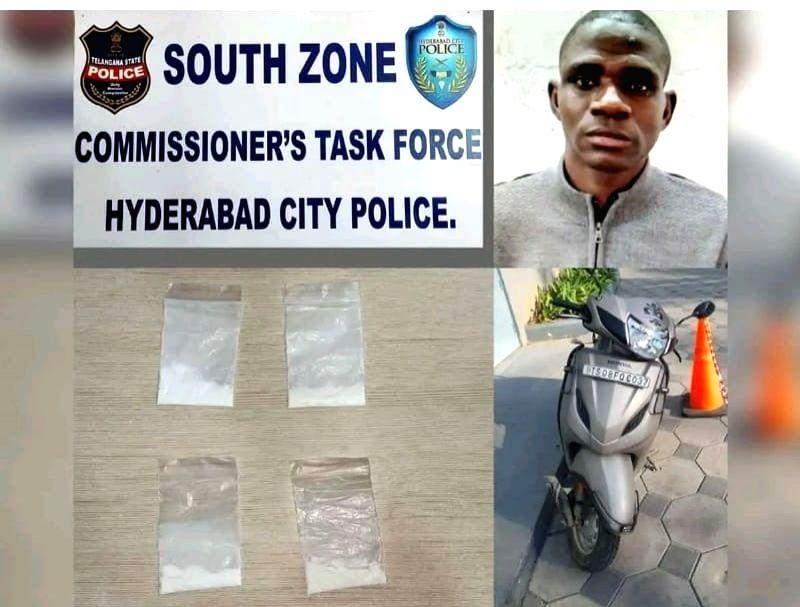 Nigerian arrested in Hyderabad for drug peddling.