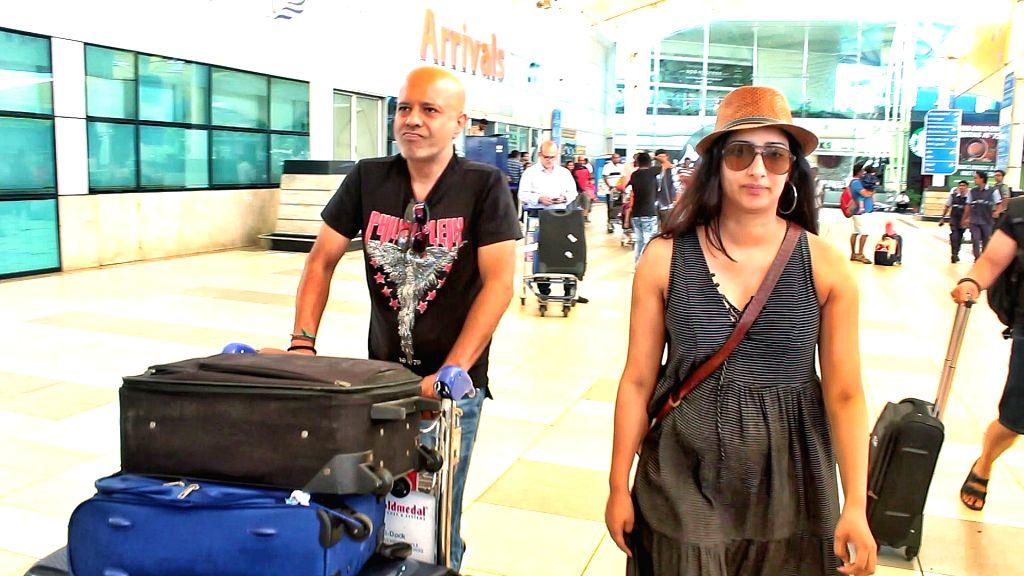 Niharica Raizada seen at Chhatrapati Shivaji International Airport in Mumbai on March 4, 2019.