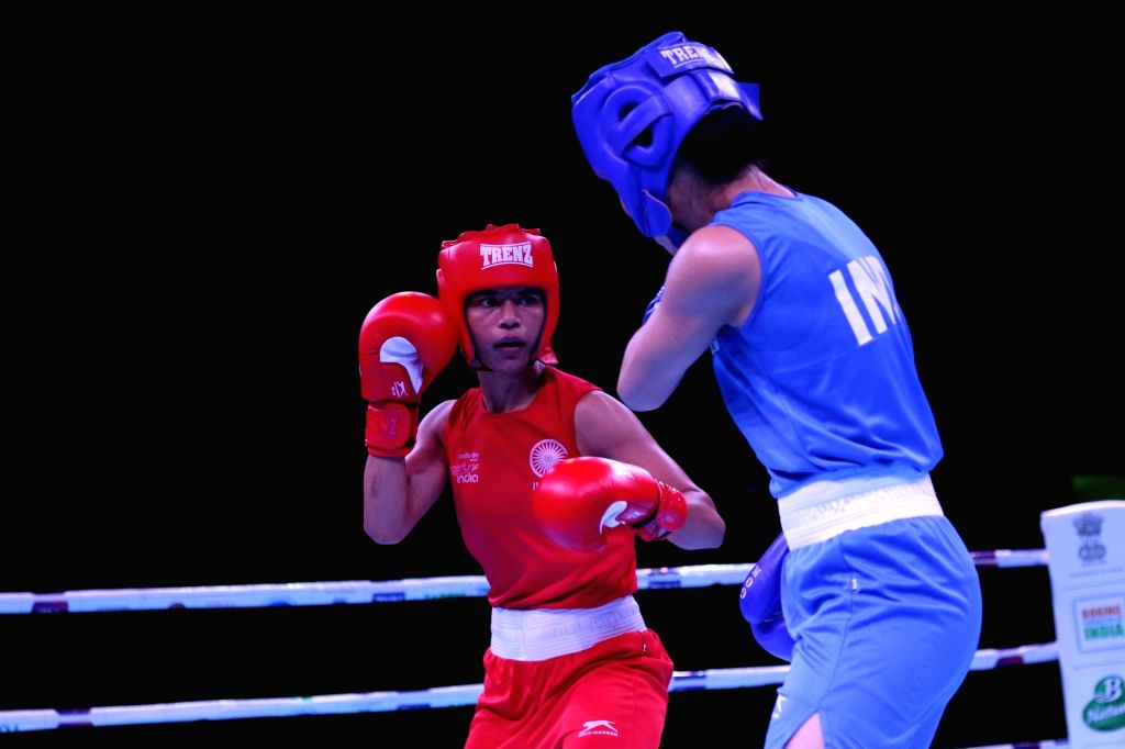 Nikhat Zareen looked in no mood to stop as she booked her place in the final with a 4-1 win over Thailand???s Jutamas Jitpong at the Thailand Open International Boxing Tournament.
