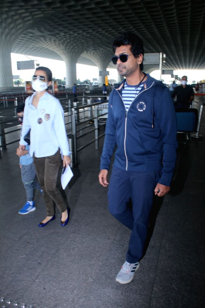 Nikhil Dwivedi & His Family Spotted at Airport Departure on Friday 05th March, 2021.