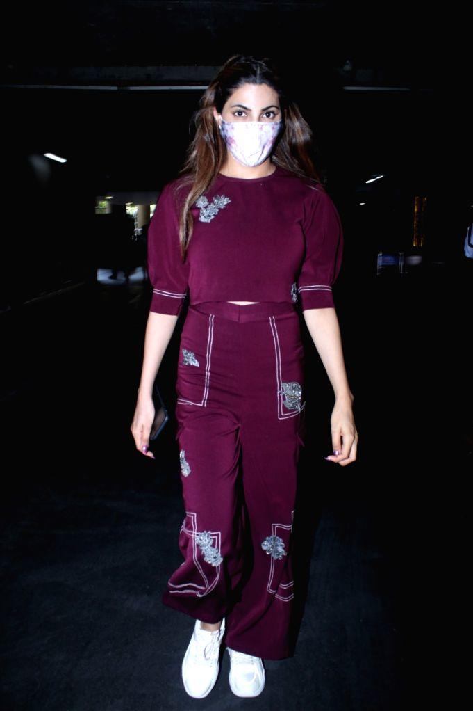 Nikki Tamboli Spotted at Airport Arrival  On Saturday, 24 April, 2021.