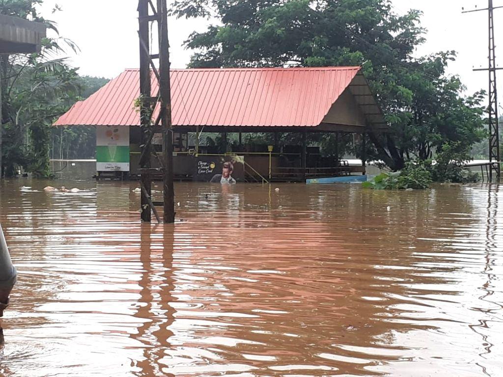 Nilambur: A view of flood hit areas of Nilambur in Kerala on Aug 8, 2019. (Photo: IANS)