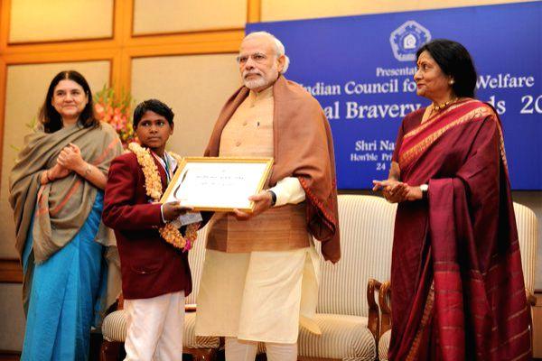 Nilesh Bhil honoured by PM in January 2016